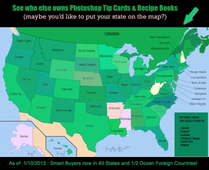 Photoshop Recipe Card Book - Mapping Sales from Around the World!
